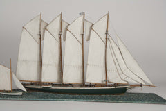 Waterline Model of a 4 Masted Schooner