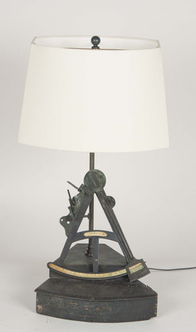 Early 19th Century English Octant now as Table Lamp.