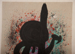 Carborundum Lithograph by Joan Miro