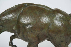 Impressionistic Bronze of a Horse on Travertine Base