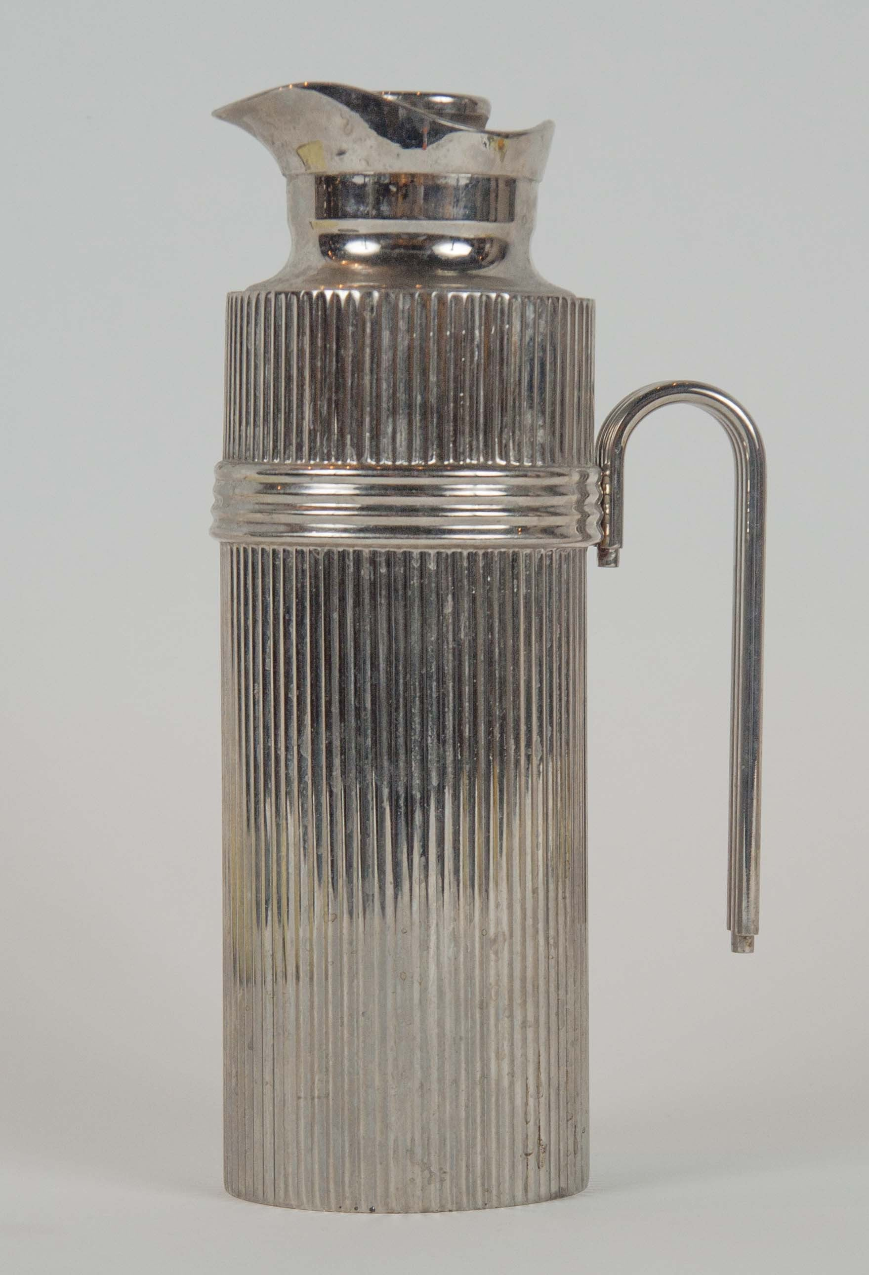 Christian Dior Modernist Chrome Thermal Carafe