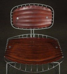 Set of Eight Beaubourg Chairs Designed by Michel Cadestin and Georges Laurent