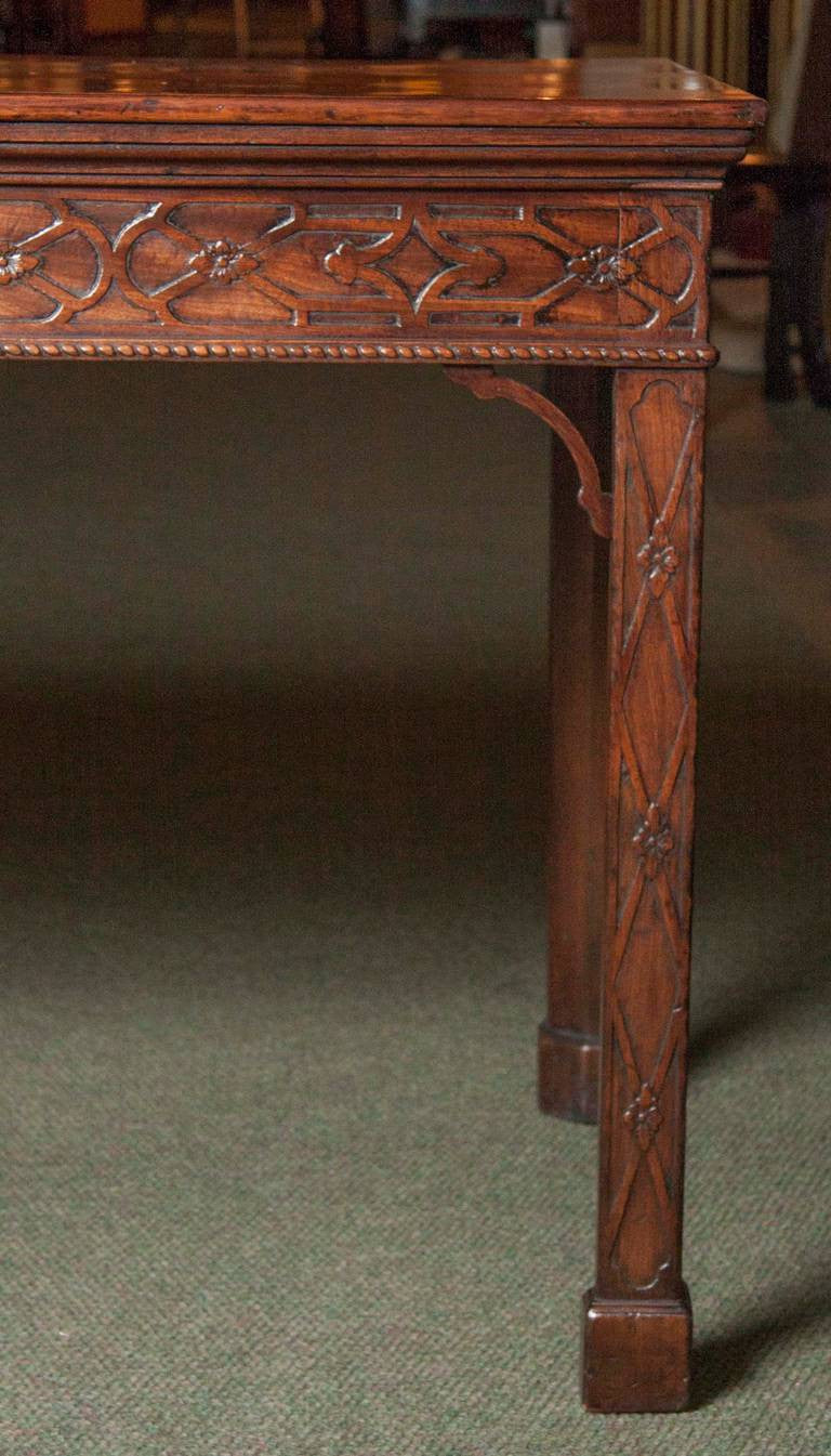 Chinese chippendale console table avery dash collections chinese chippendale console table geotapseo Gallery