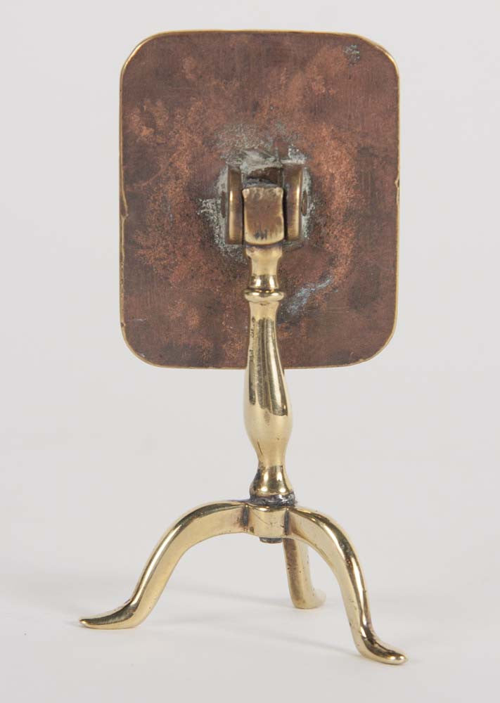 A Miniature Brass Reflector Table