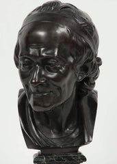 Bronze Bust of Voltaire after Jean Antoine Houdon