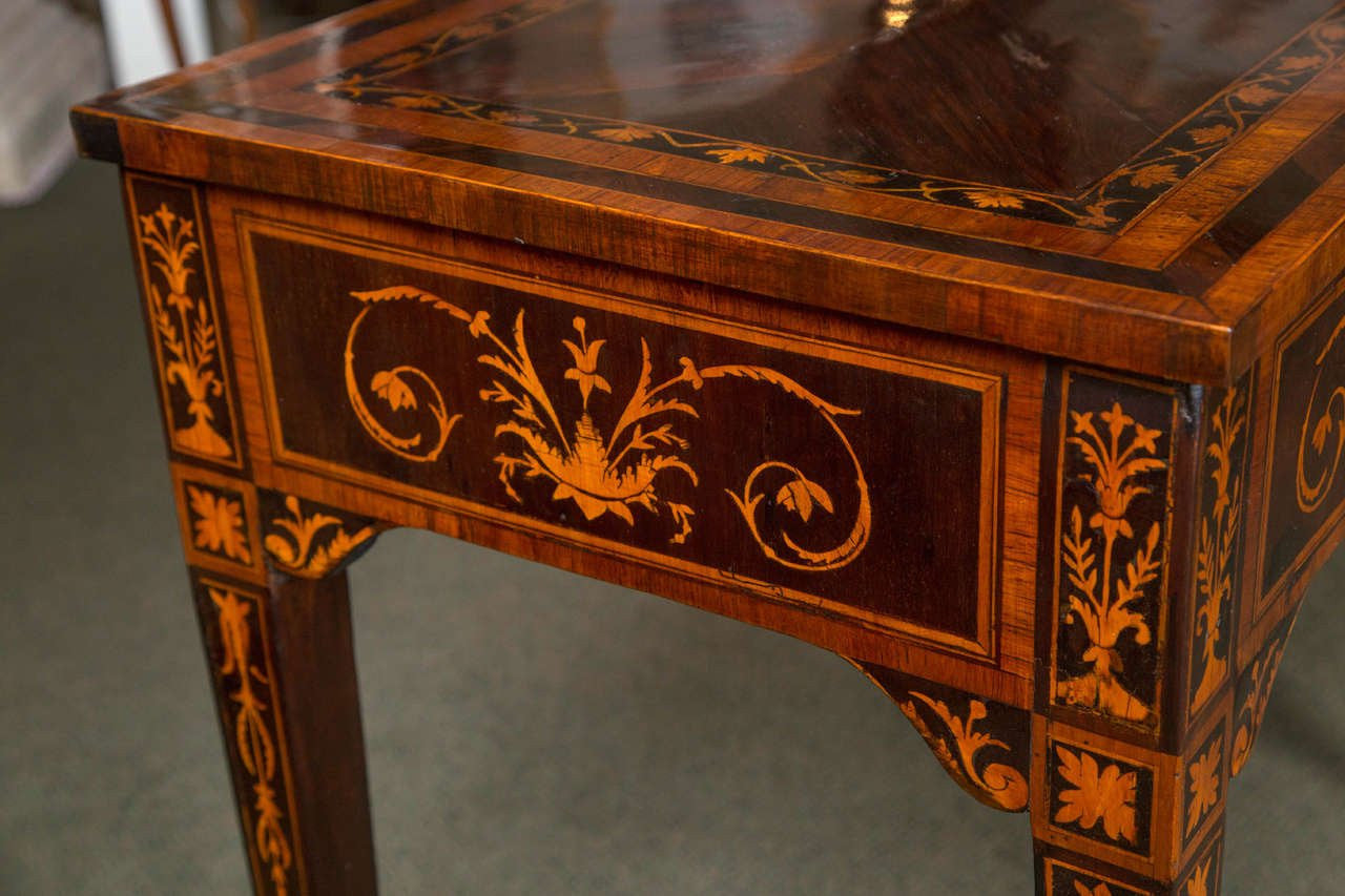Italian Marquetry Work Table
