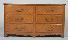 Pair of Leather Commodes