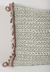 Fortuny Pillow with Zigzag Design