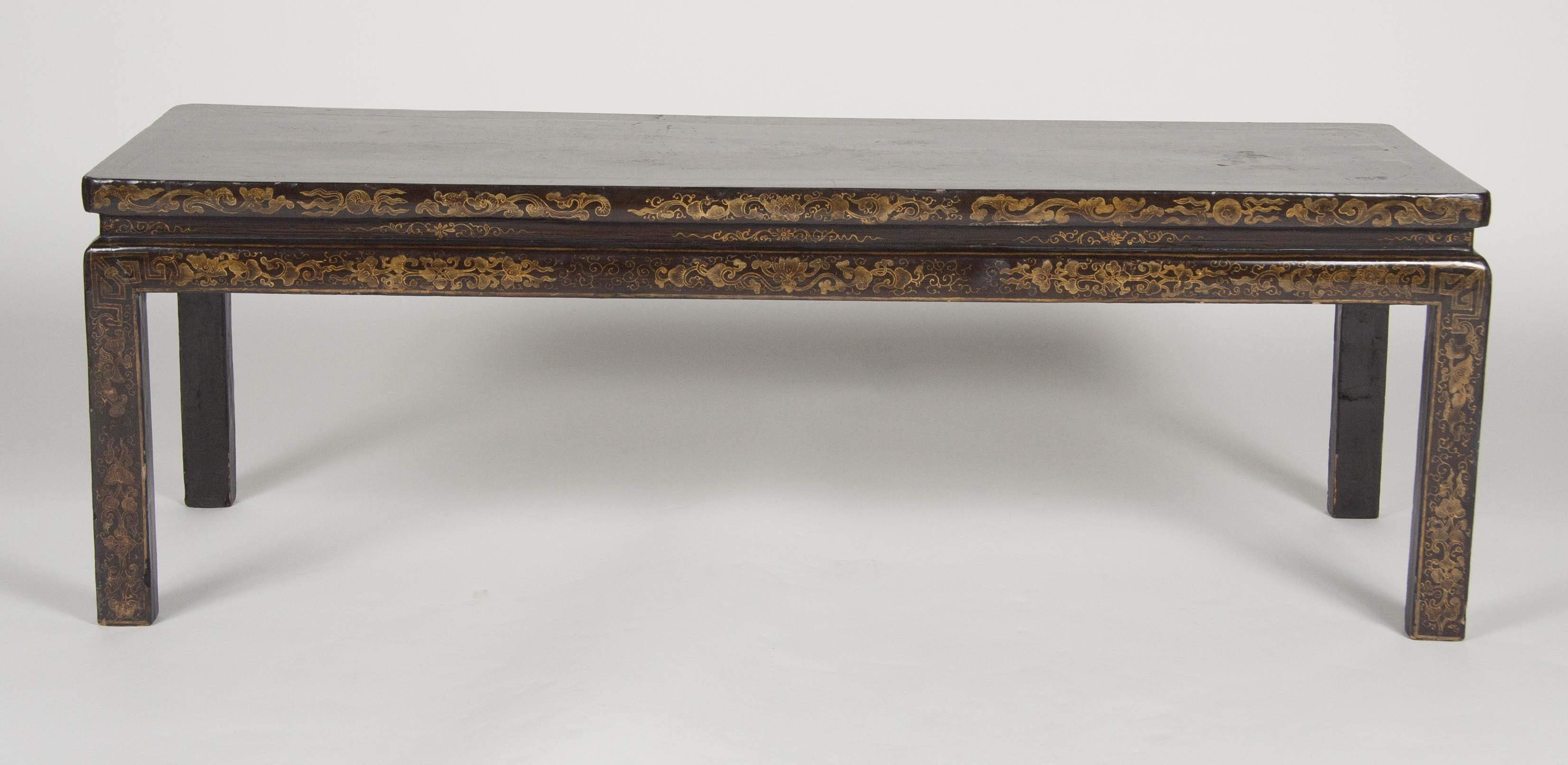 A Golden Brown Lacquered Chinoiserie Coffee Table – Avery & Dash