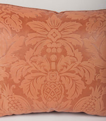 Tooled Leather Pillow with Velvet Backing