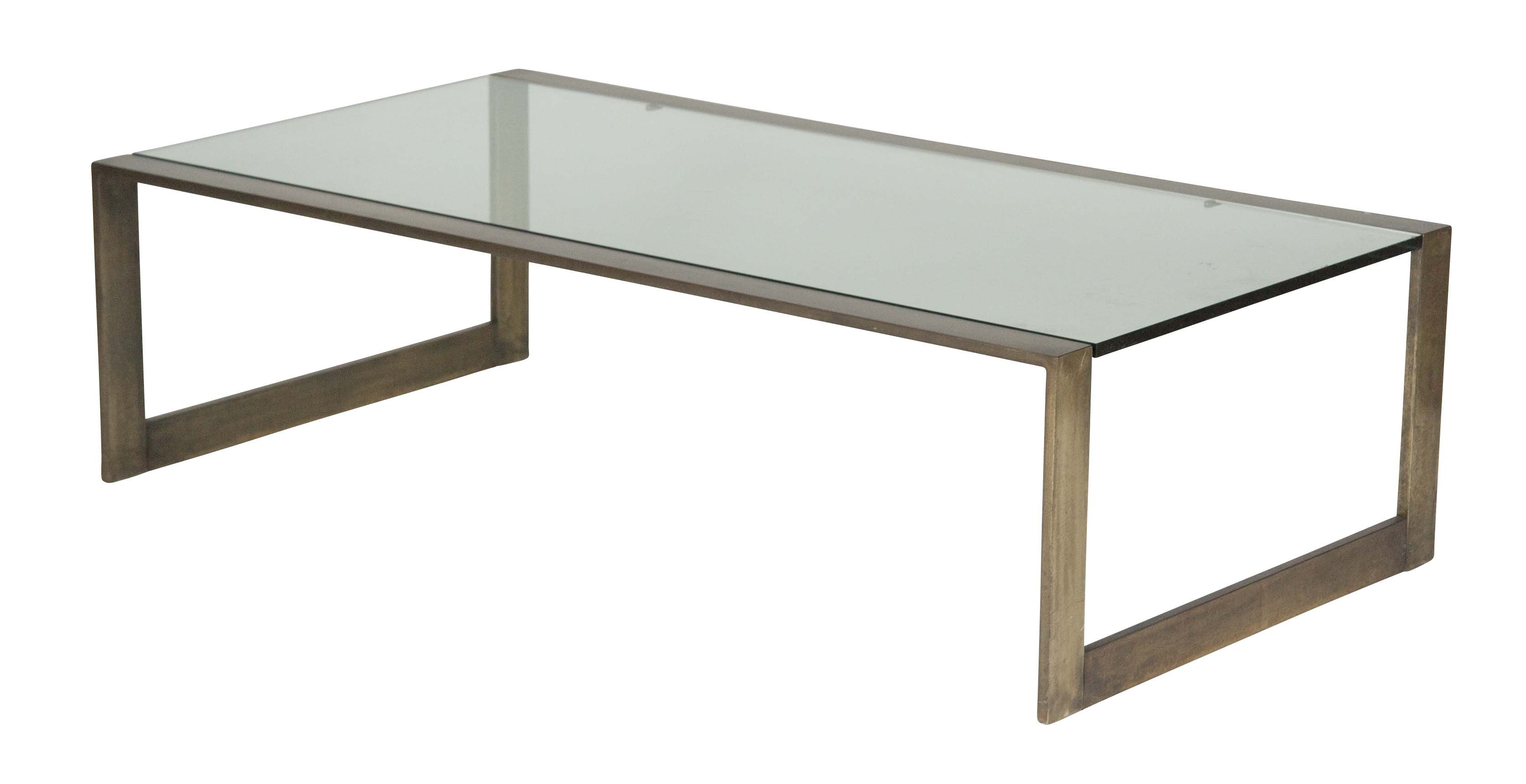 A glass top bronze coffee table produced by pace avery dash a glass top bronze coffee table produced by pace geotapseo Image collections