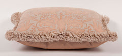 A Small Beige Fortuny Pillow