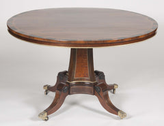 Rosewood, Burwood & Calamander Centre Table in the Manner of George Oakley