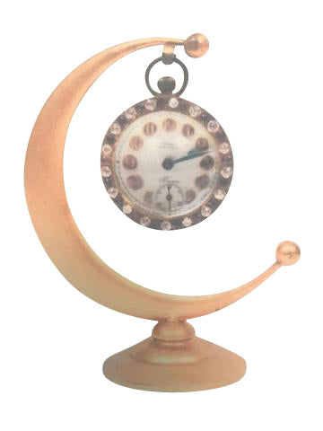 Henry Birks & Sons Crescent Moon Dresser Clock