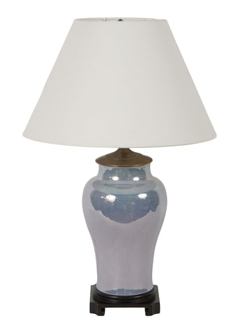 A Lavender Opalescent Vase Now as Lamp.