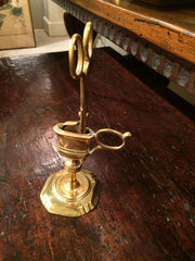 Queen Anne Standing Brass Candle Snuffer and Stand