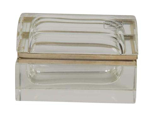 Murano Clear Glass Domed Box