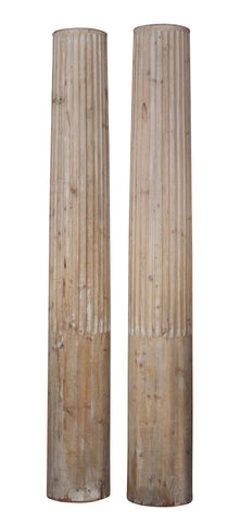 A Pair of Massive Wood Columns