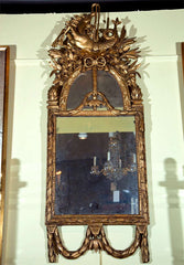 18th Century Italian Carved Giltwood Mirror