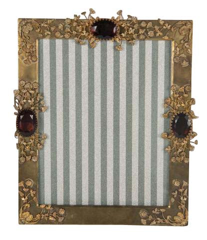 Picture Frame with Colored Stones