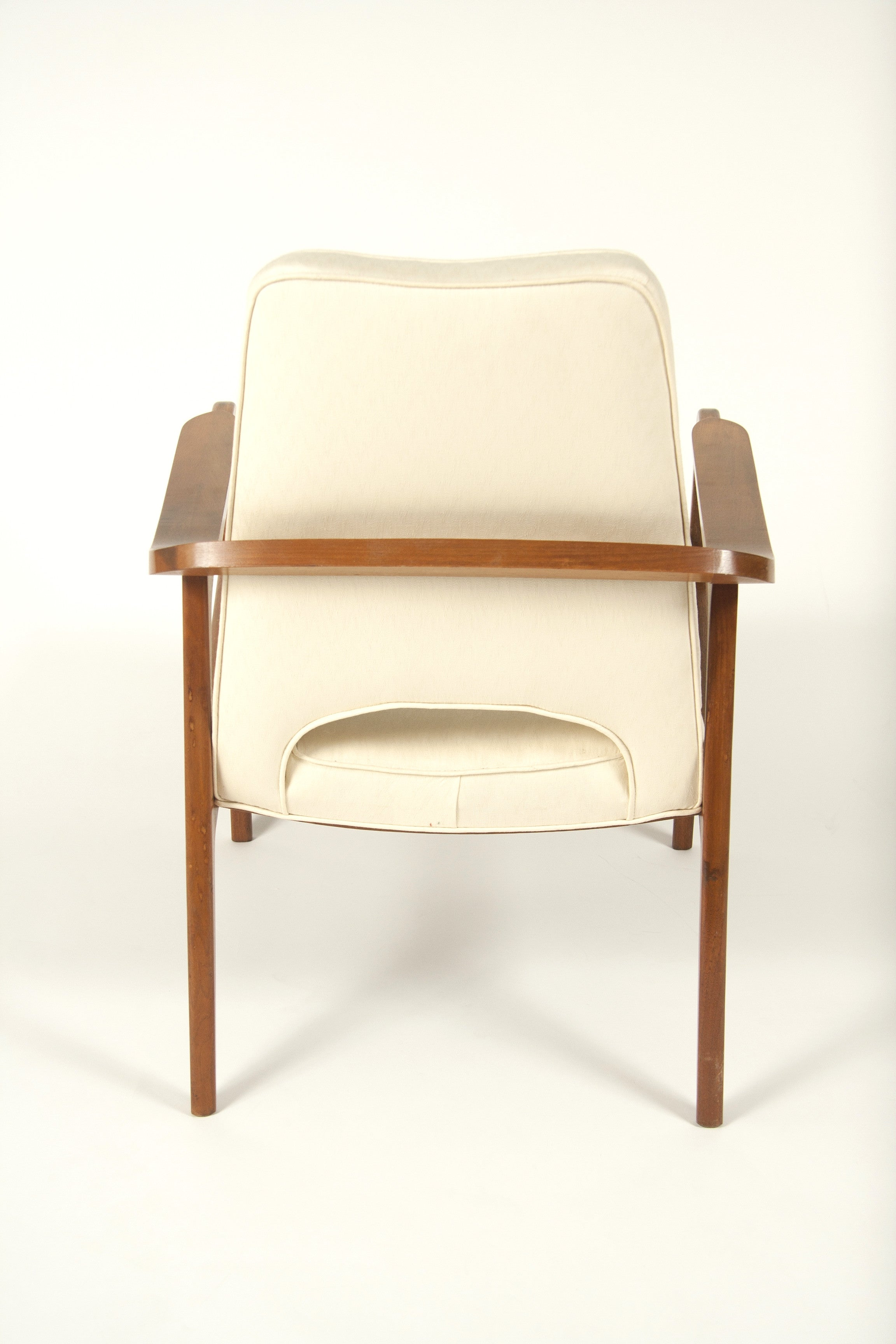 A Pair of Upholstered Arm Chairs Designed by Sigvard Bernadotte