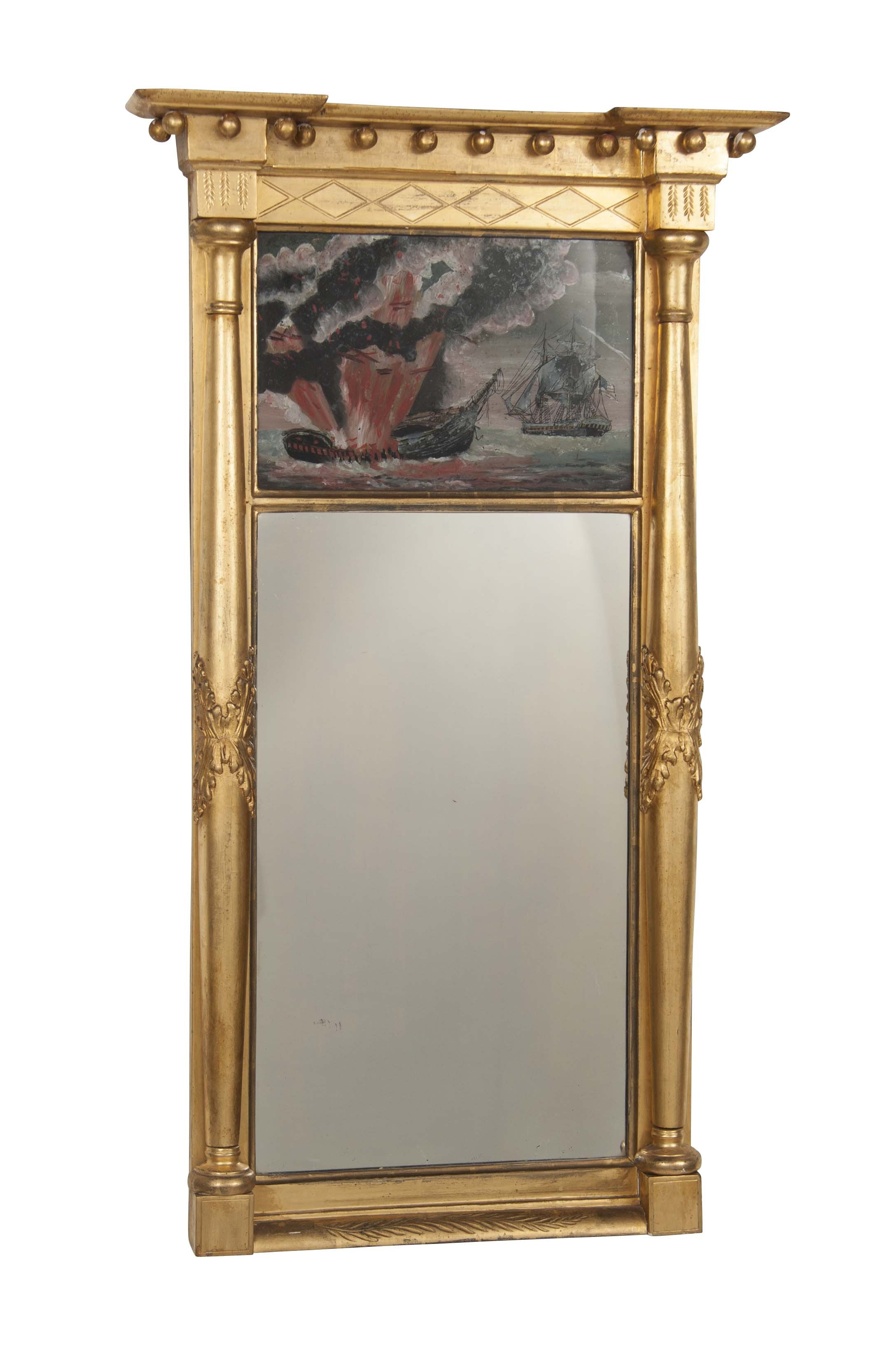 Rare American Federal Gilt Mirror With Eglomise Painting – Avery ...