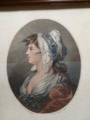 "18th Century Color Engraving, ""A St. Giles's Beauty"""