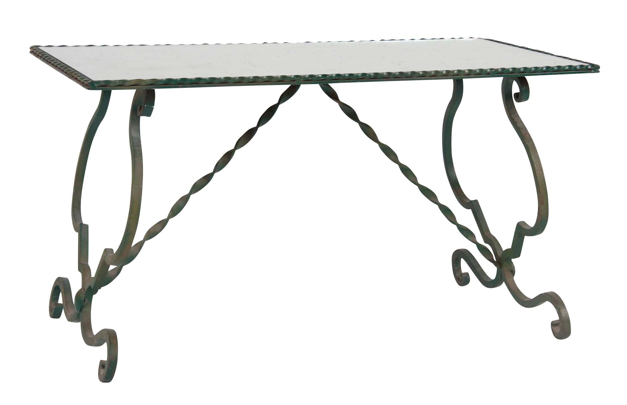 wrought iron side table. Continental Wrought Iron Coffee Table Side W