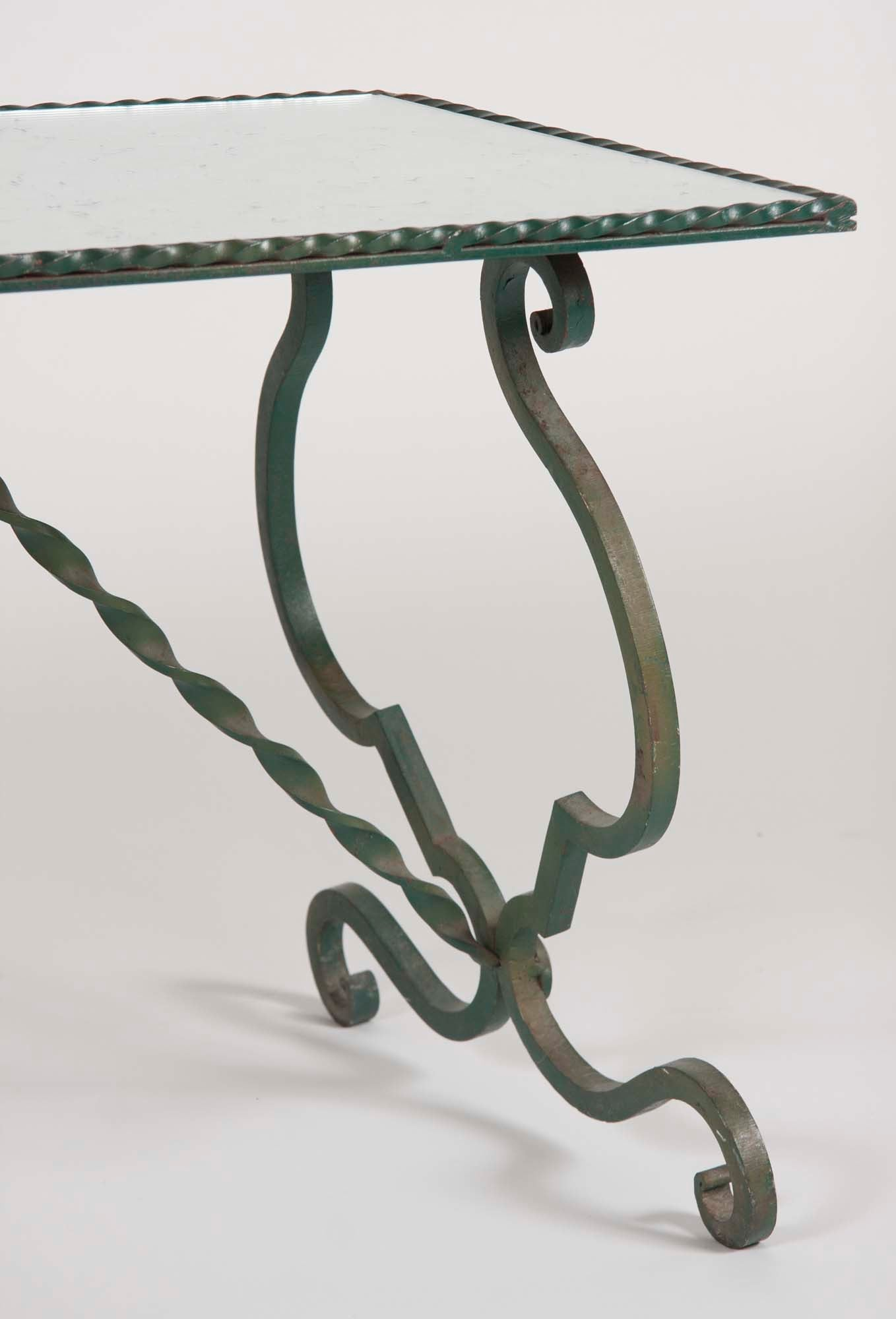 Continental Wrought Iron Coffee Table
