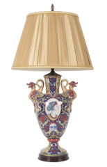 Luster Ware Vase by Gualdo Tadino now a Lamp