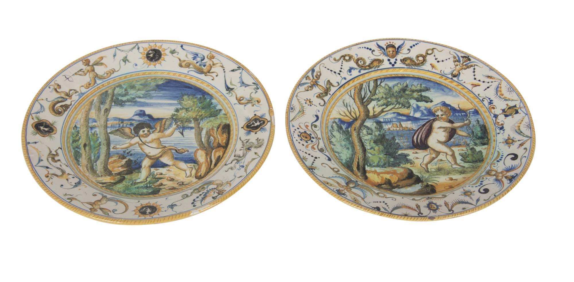 Pair of Cantagalli Plates