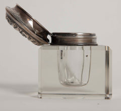 Travel Size Inkwell with Sterling Lid