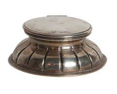 Sterling Inkwell With Glass Well