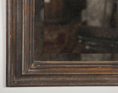 Italian Mirror in Silver Gilt Frame