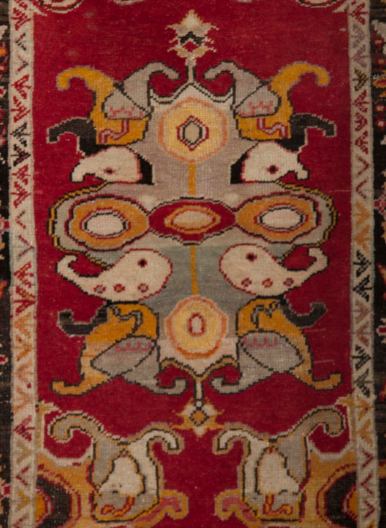 Antique Turkish Chal Rug