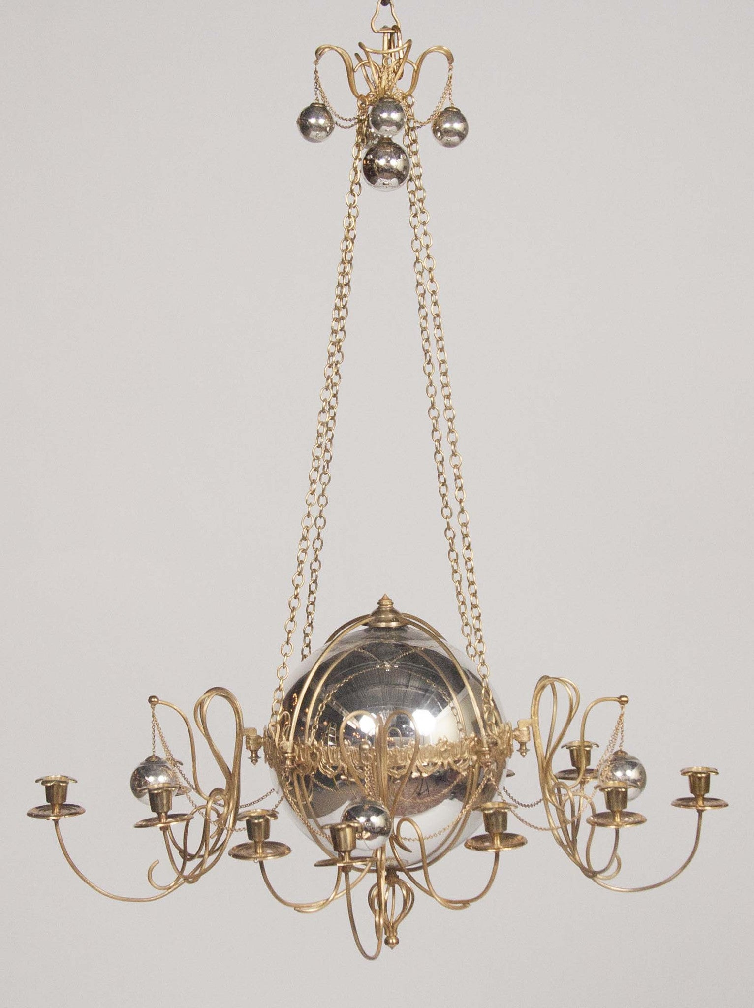Gilt Bronze and Mercury Glass Chandelier – Avery & Dash Collections