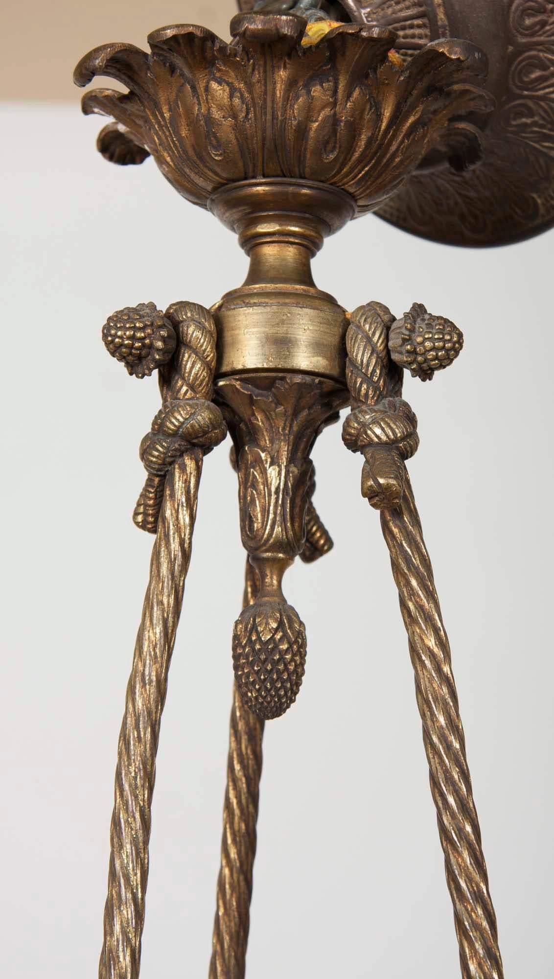 French Empire Bronze Chandelier