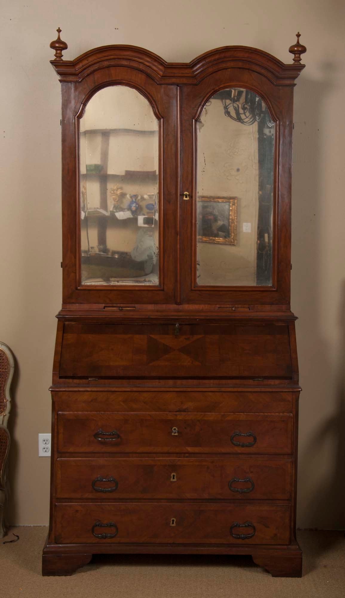 18th Century Dutch Style Double-Domed Secretary