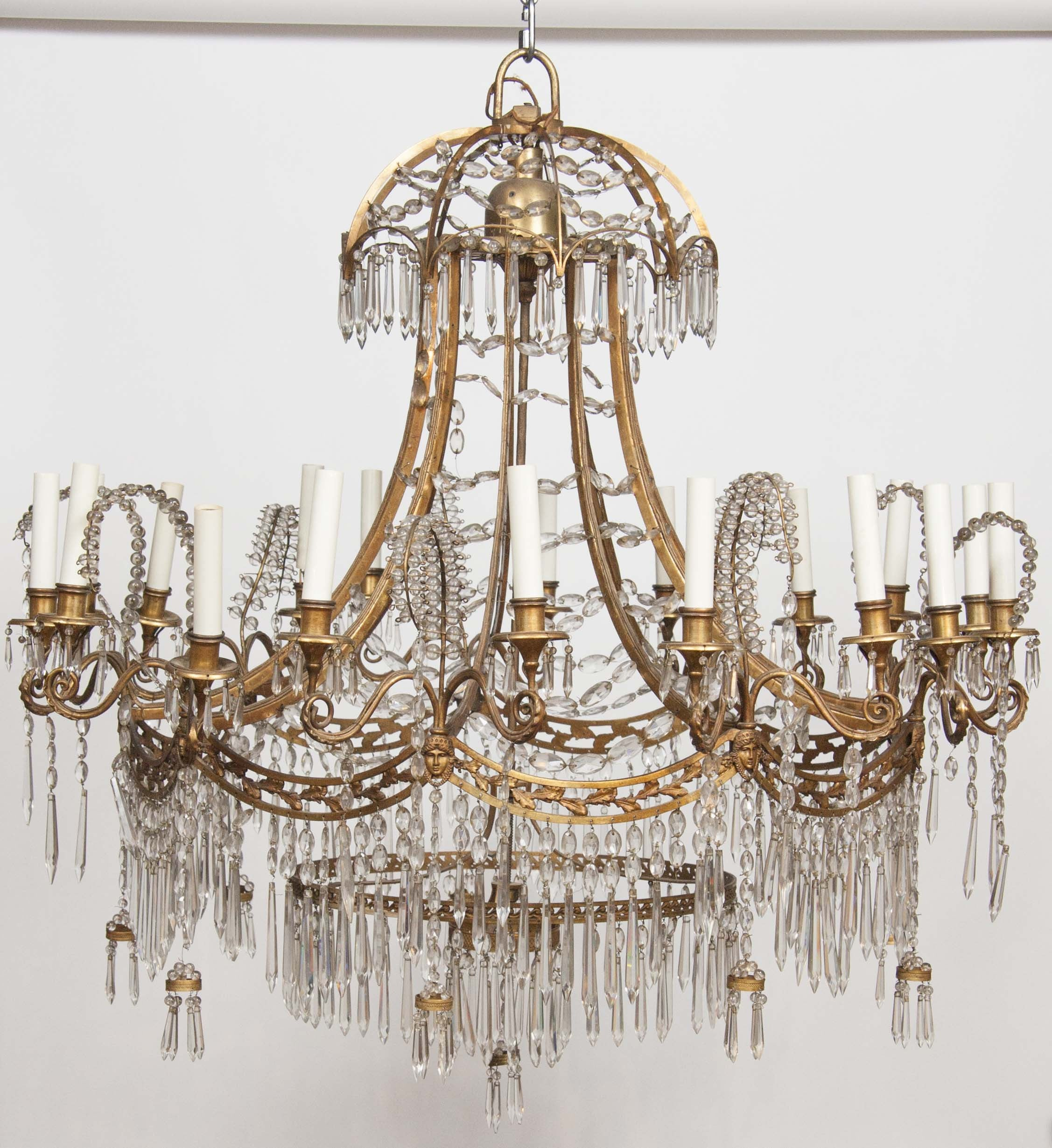 German neoclassical bronze and cut glass chandelier avery dash german neoclassical bronze and cut glass chandelier aloadofball Choice Image