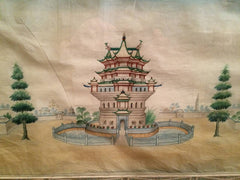 Chinese Export Watercolors in Mid Century Frames