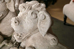 Carved Stone Foo Dogs