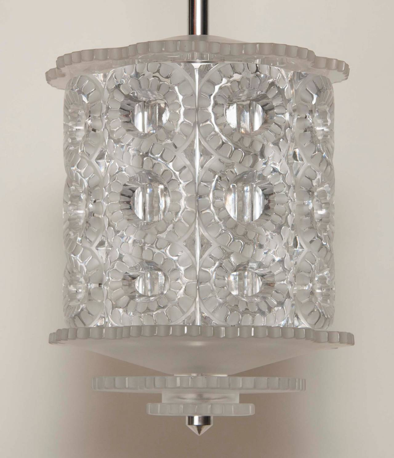 "Lalique ""Seville"" Crystal Chandelier"