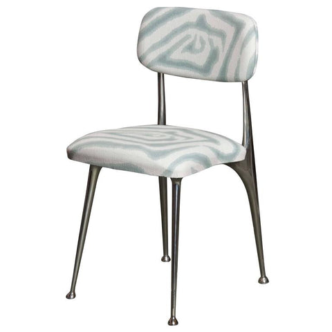 Set of 6 Polished Aluminum Dining Chairs by Shelby Williams (Priced Separately)