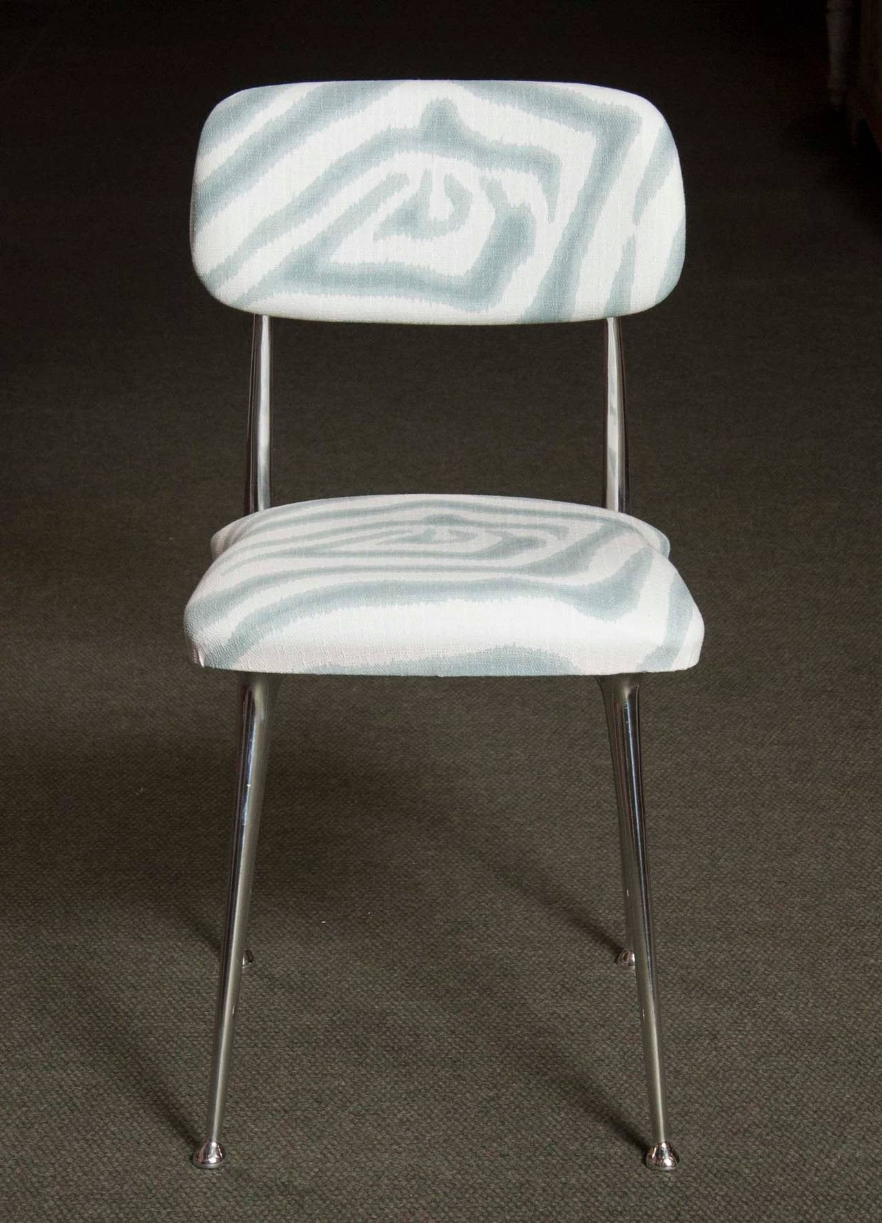 set of  polished aluminum dining chairs by shelby williams  - set of  polished aluminum dining chairs by shelby williams (pricedseparately)