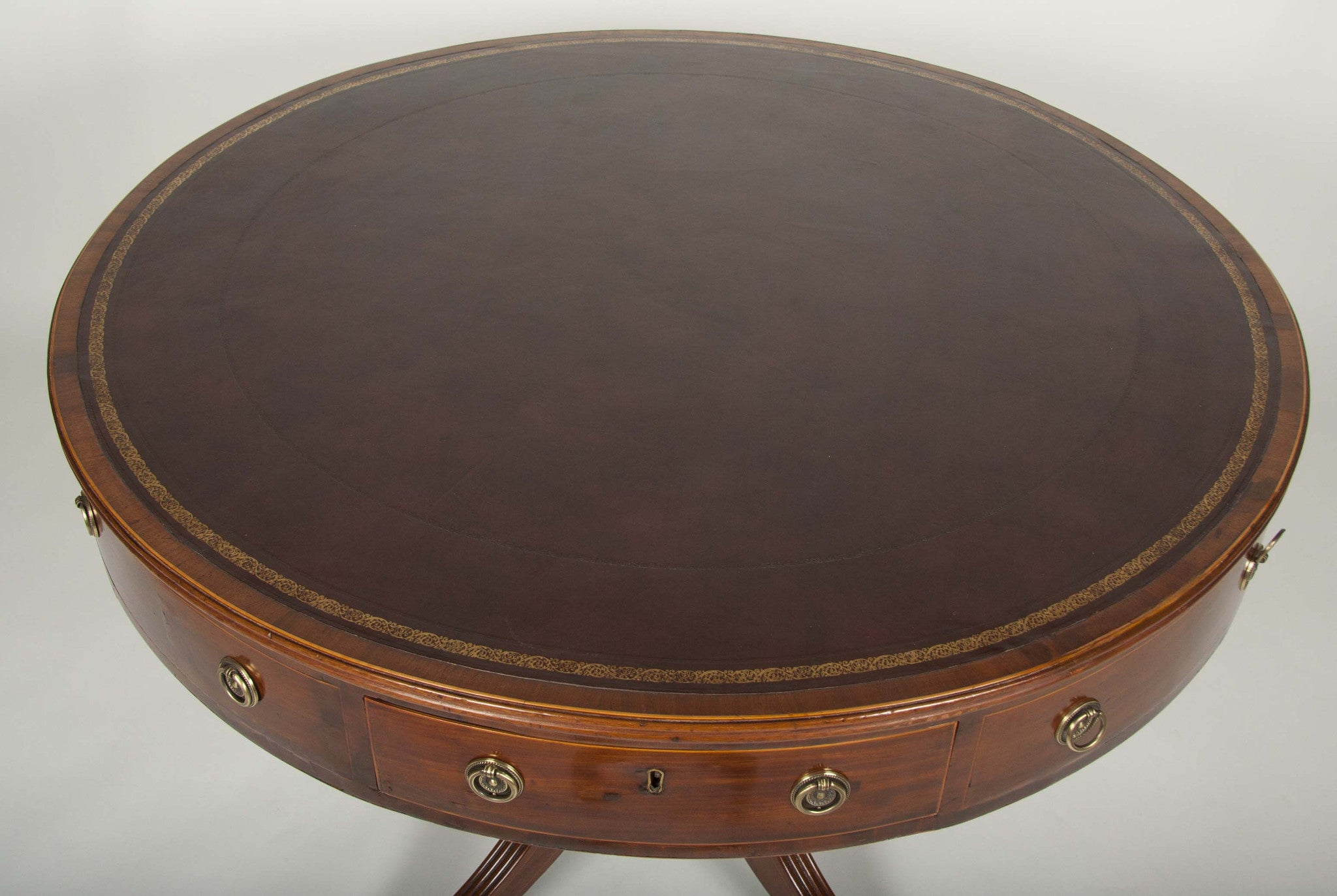 Regency Mahogany Drum Table