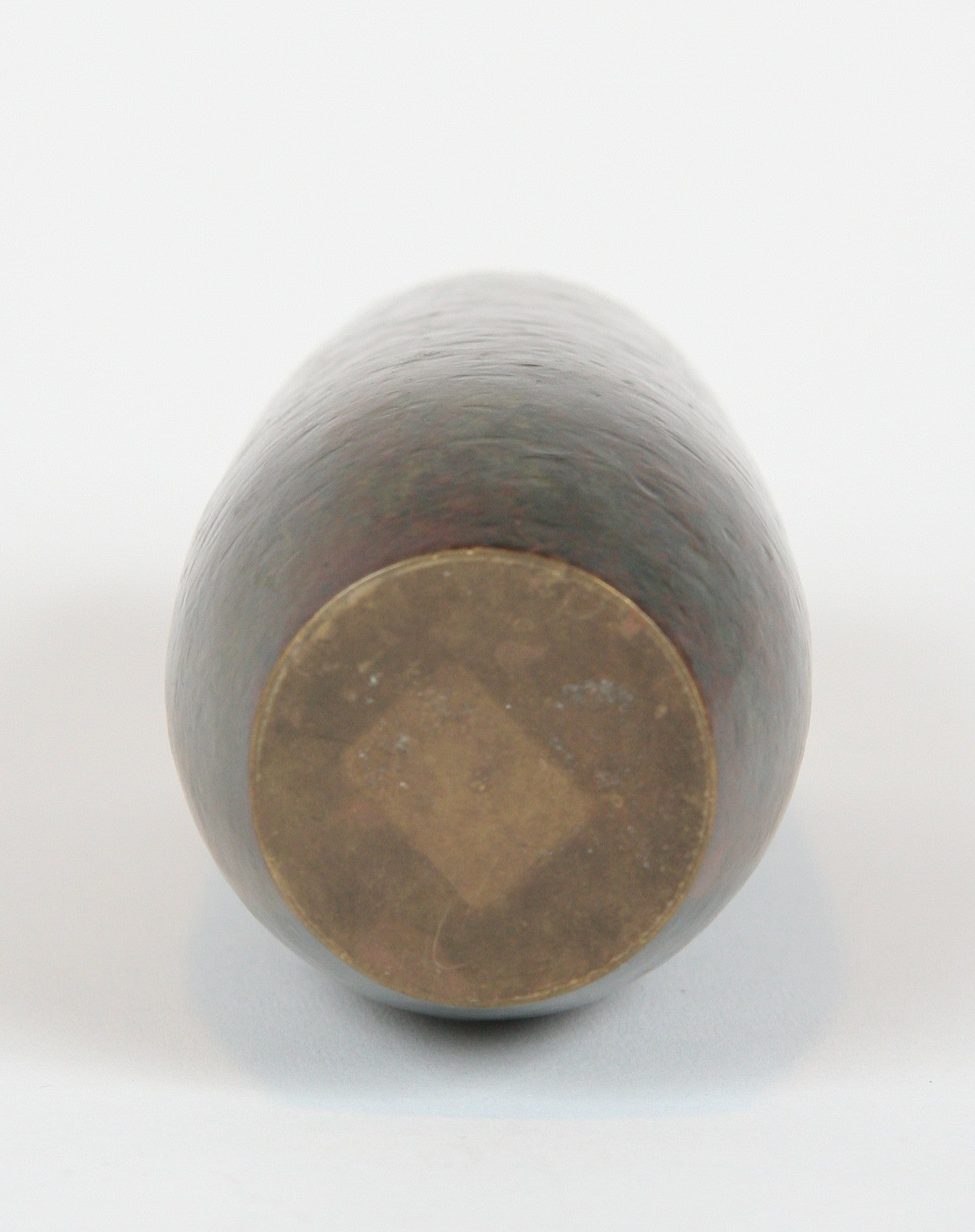 A Hand Hammered and Patinated Bronze Vase