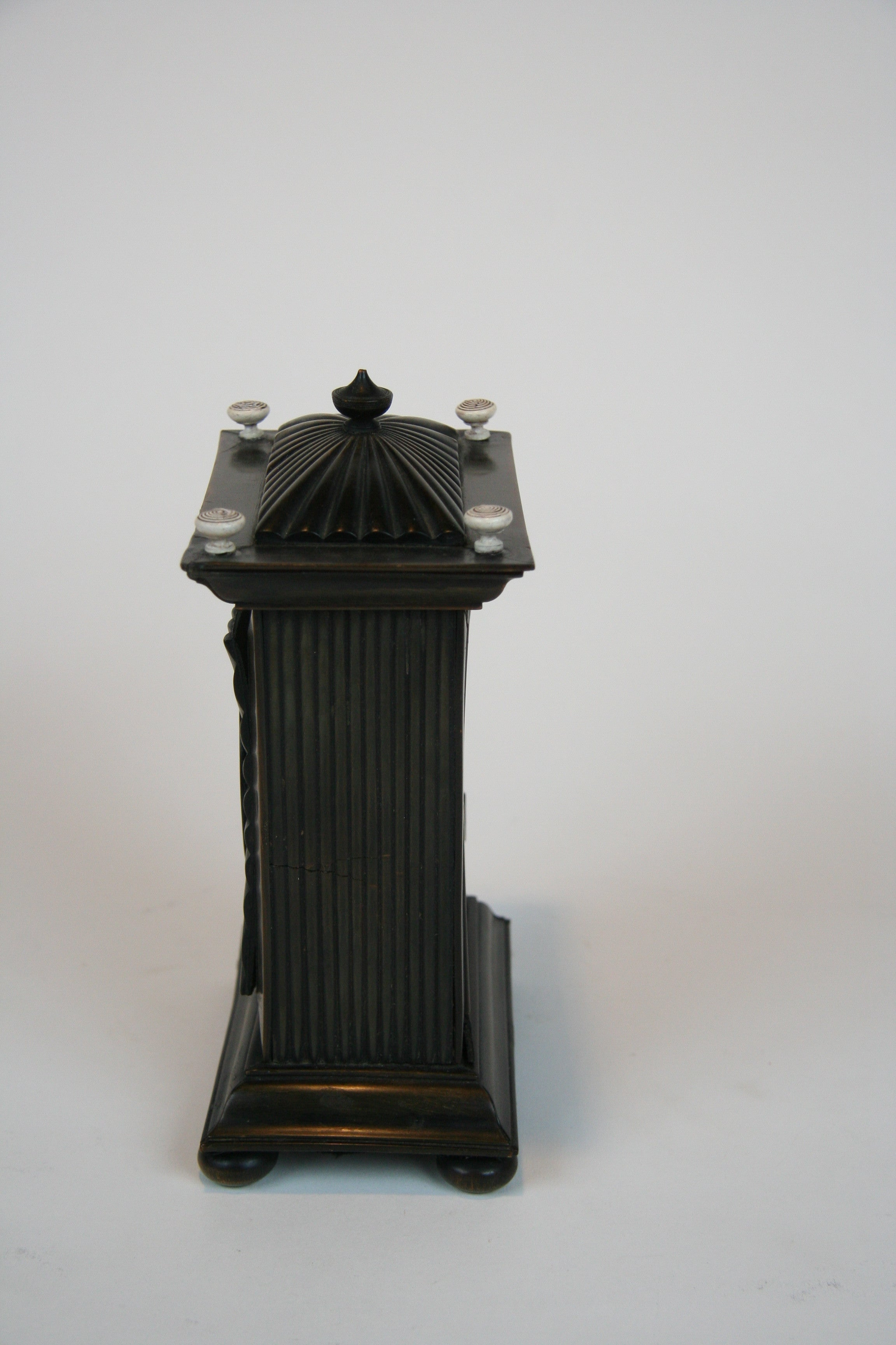 An Anglo Indian Carved Bone Watch Hutch in the Form of a Pagoda