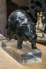 Bronze Rhino Sculpture by R. d'Andlau-Hombourg