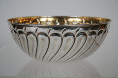 An 800 Silver Serving Bowl with Gold Wash Produced by Prato