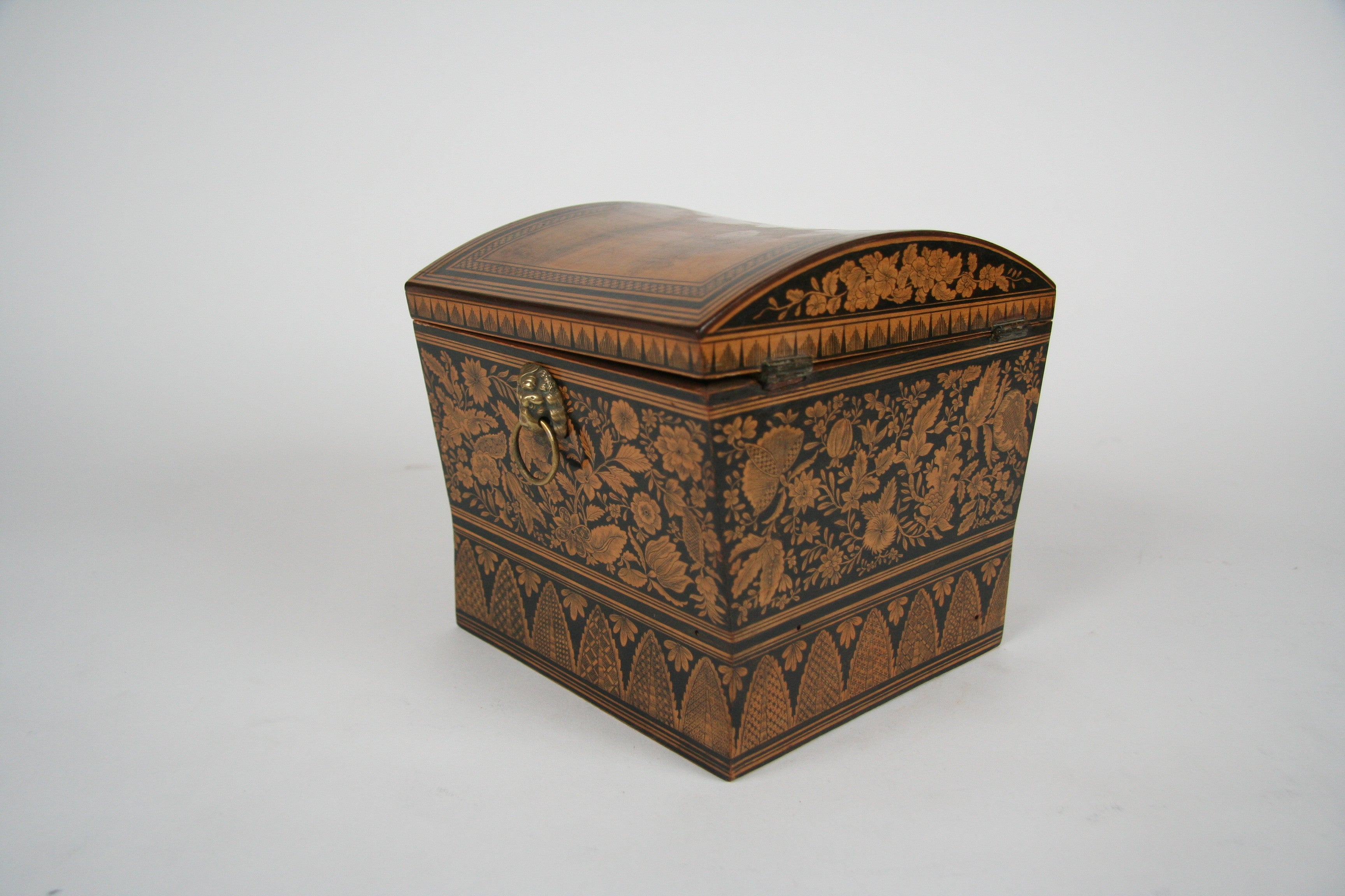 An English Regency Penwork Work Box